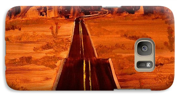 Galaxy Case featuring the painting Hit The Road Jack by Denise Tomasura