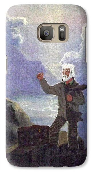Galaxy Case featuring the painting Hitchhiker by Richard Faulkner