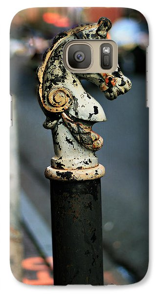 Galaxy Case featuring the photograph Hitching Post #1 by Heather Green