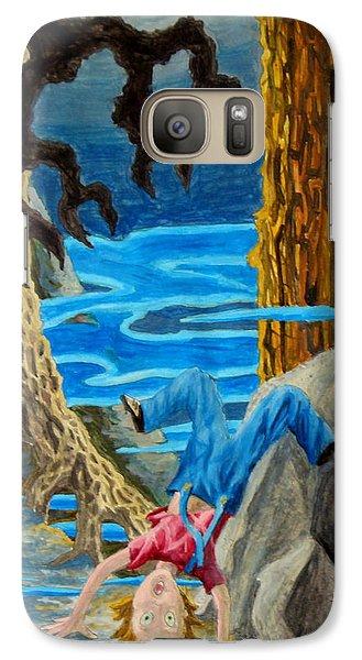 Galaxy Case featuring the painting Hmmmmm by Matt Konar