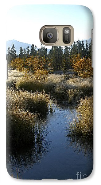 Galaxy Case featuring the photograph Hoar Frost And Stream by Jessie Parker