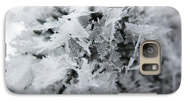 Galaxy Case featuring the photograph Hoar Frost In November by Ryan Crouse