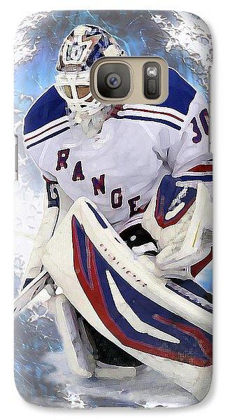 Galaxy Case featuring the photograph Hockey Goalie by Barbara Giordano