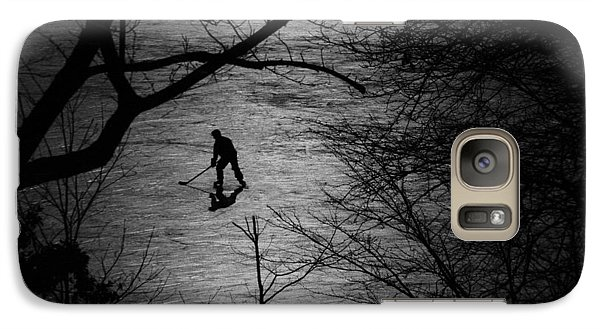 Hockey Silhouette Galaxy S7 Case by Andrew Fare
