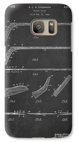 Hockey Stick Patent Drawing From 1934 Galaxy S7 Case by Aged Pixel