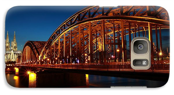 Galaxy Case featuring the photograph Hohenzollern Bridge by Mihai Andritoiu