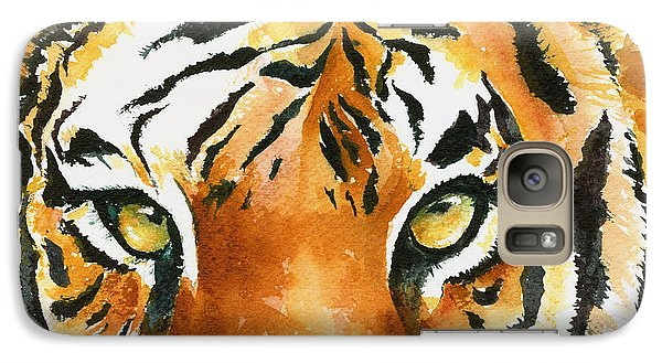 Galaxy Case featuring the painting Hold That Tiger by Karen Mattson