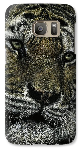 Galaxy Case featuring the drawing Holding Court by Sandra LaFaut