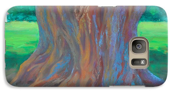 Galaxy Case featuring the painting Holding On by Alla Parsons