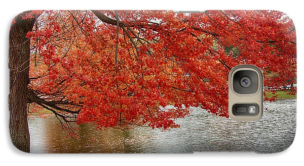 Galaxy Case featuring the photograph Holding Our Bright Red Joy by Jeff Folger