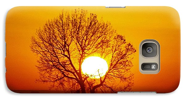 Galaxy Case featuring the photograph Holding The Sun by Steven Reed