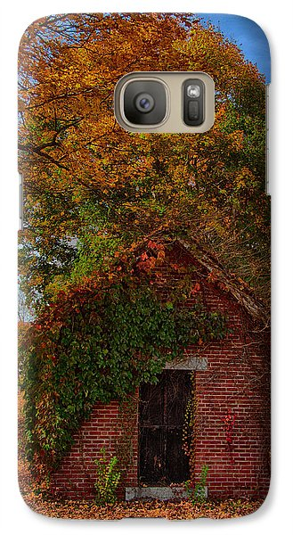 Galaxy Case featuring the photograph Holding Up The  Fall Colors by Jeff Folger