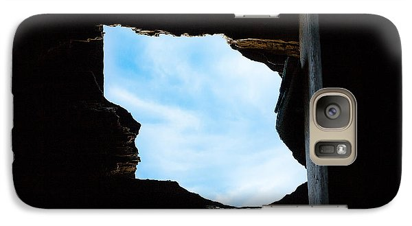 Galaxy Case featuring the photograph Hole In The Roof  by Gary Heller