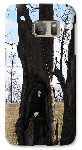 Galaxy Case featuring the photograph Holey Tree Trunk by Nick Kirby