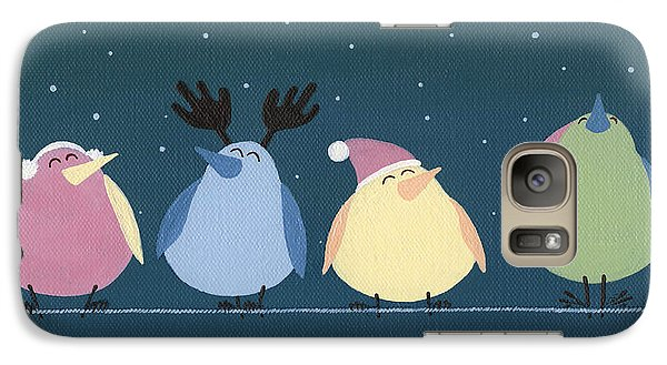 Galaxy Case featuring the painting Holiday Birds by Natasha Denger