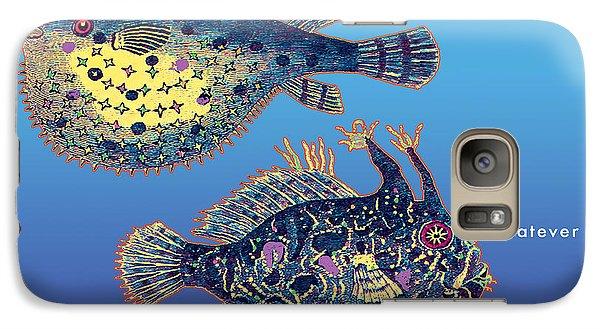 Galaxy Case featuring the digital art Holiday Fish Card by David Klaboe