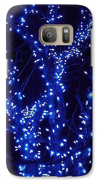 Galaxy Case featuring the photograph Holiday Glow Blue by Darren Robinson