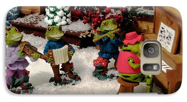 Galaxy Case featuring the photograph Holiday Recital By The Frogs by Judyann Matthews