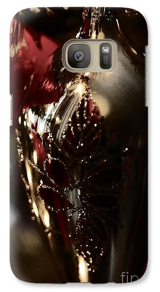 Galaxy Case featuring the photograph Holiday Sparkle In Red by Linda Shafer
