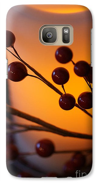 Galaxy Case featuring the photograph Holiday Warmth By Candlelight 1 by Linda Shafer