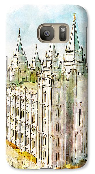 Galaxy Case featuring the painting Holiness To The Lord by Greg Collins