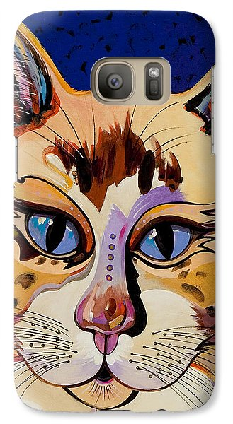 Galaxy Case featuring the painting Holy Cat by Bob Coonts