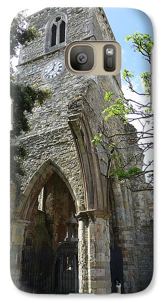 Galaxy Case featuring the photograph Holyrood Church Memorial In Southampton by Susan Alvaro