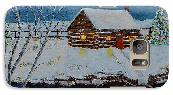 Galaxy Case featuring the painting Cozy Christmas by Melvin Turner