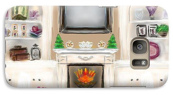 Galaxy Case featuring the digital art Home For The Holidays by Christine Fournier