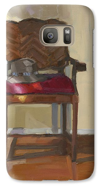 Galaxy Case featuring the painting Sold Home Is Where Your Hat Lies by Nancy  Parsons
