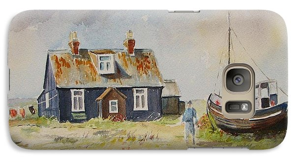 Galaxy Case featuring the painting Home Sweet Home Dungeness by Beatrice Cloake