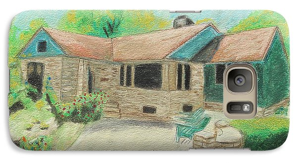 Galaxy Case featuring the painting Home Sweet Home by Jeanne Fischer