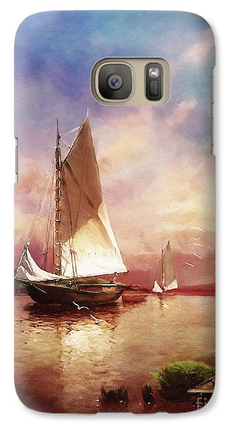 Galaxy Case featuring the digital art Home To The Harbor by Lianne Schneider