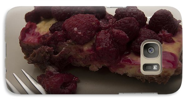 Galaxy Case featuring the photograph Homemade Cheesecake by Miguel Winterpacht