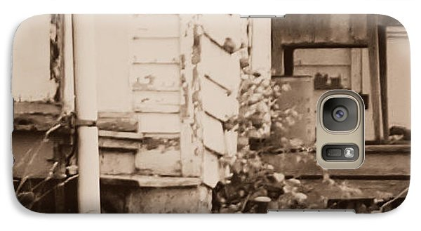 Galaxy Case featuring the photograph Homestead Forgotten Side Porch V3 by Deborah Fay