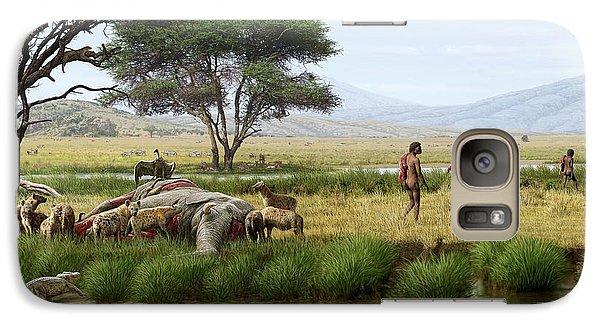 Homo Ergaster Hunters Galaxy S7 Case by Mauricio Anton