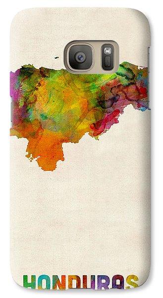 Honduras Watercolor Map Galaxy Case by Michael Tompsett