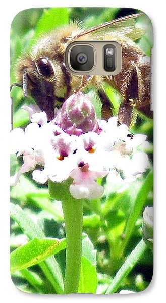 Galaxy Case featuring the photograph Honey Bee At Work by Bonnie Muir