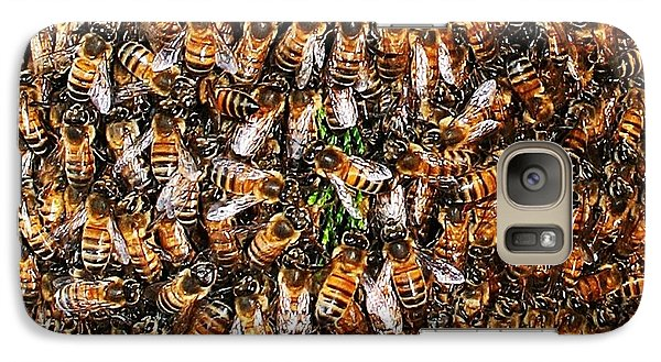 Galaxy Case featuring the photograph Honey Bee Swarm by Tom Janca