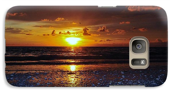 Galaxy Case featuring the digital art Honey Life Sunset by Kicking Bear  Productions