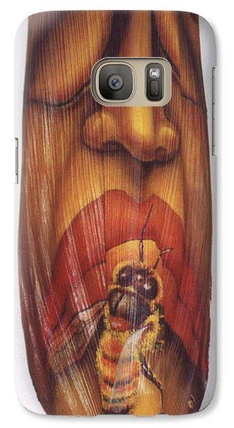 Galaxy Case featuring the painting Honeybee by Anna Skaradzinska