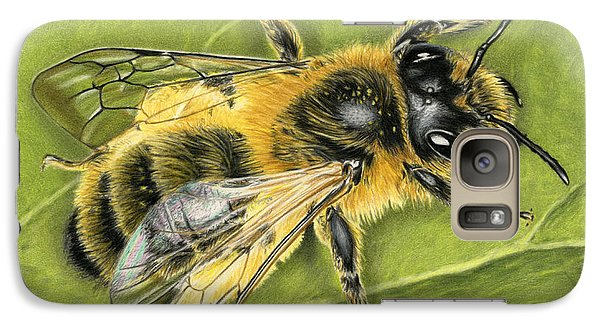 Ant Galaxy S7 Case - Honeybee On Leaf by Sarah Batalka