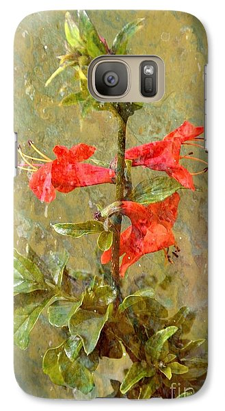 Galaxy Case featuring the photograph Honeysuckle- Classical by Darla Wood