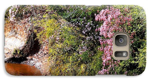 Galaxy Case featuring the photograph Honeysuckle On Buckatunna Creek by Lanita Williams