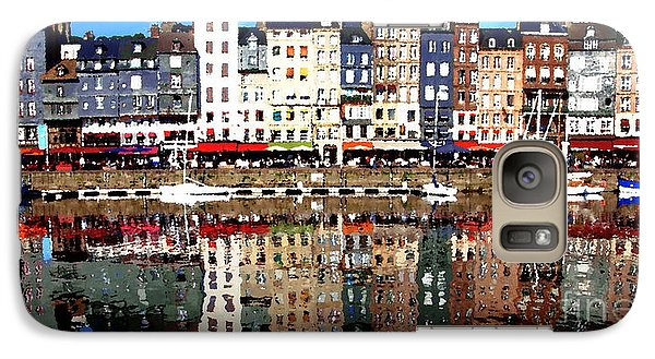 Galaxy Case featuring the photograph Long Horizontal Abstract - Honfleur Artists Village  by Jacqueline M Lewis