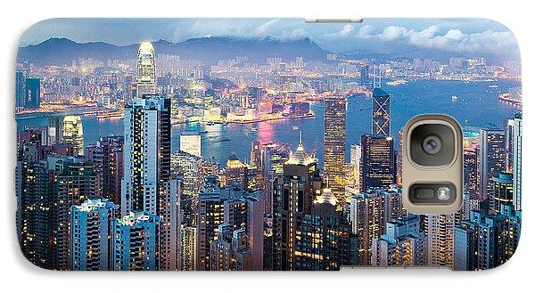 Hong Kong At Dusk Galaxy S7 Case by Dave Bowman