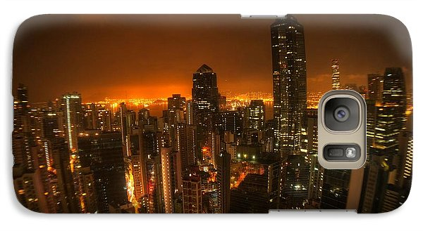 Galaxy Case featuring the photograph Hong Kong Gotham by Peter Thoeny