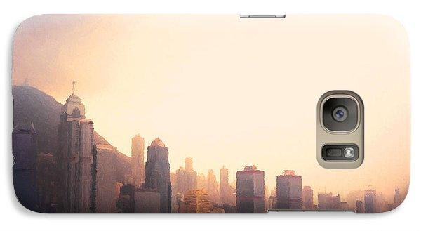 Hong Kong Harbour Sunset Galaxy Case by Pixel  Chimp