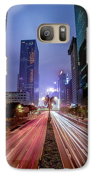 Galaxy Case featuring the photograph Hong Kong Highway by Robert  Aycock