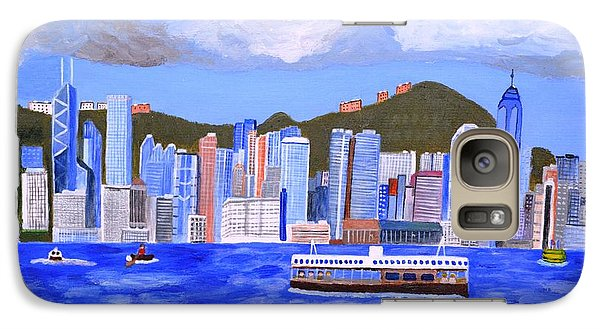 Galaxy Case featuring the painting Hong Kong by Magdalena Frohnsdorff